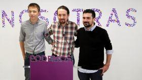 Íñigo Errejón, Pablo Iglesias y Ramón Espinar, en una imagen de archivo.