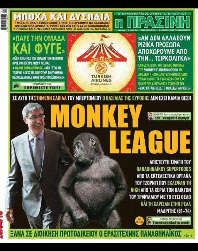 El brutal ataque del periódico del dueño del Panathinaikos a la Euroliga