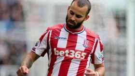 Jesé, con el Stoke City. Foto stokecityfc.com