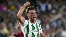 Fabián celebra un gol con el Betis. Foto realbetisbalompie.es