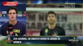 Edu Aguirre en El Chiringuito. Foto: Twitter (@elchiringuitotv)
