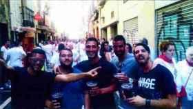 Los miembros de 'La Manada', durante las fiestas de San Fermín.