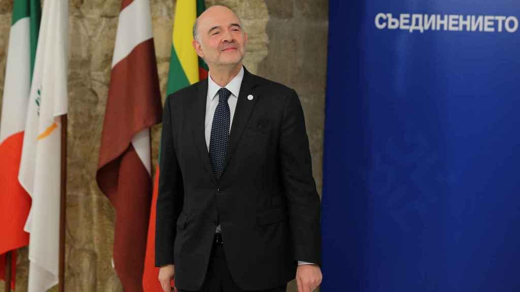 El comisario de Asuntos Económicos, Pierre Moscovici, en Sofía