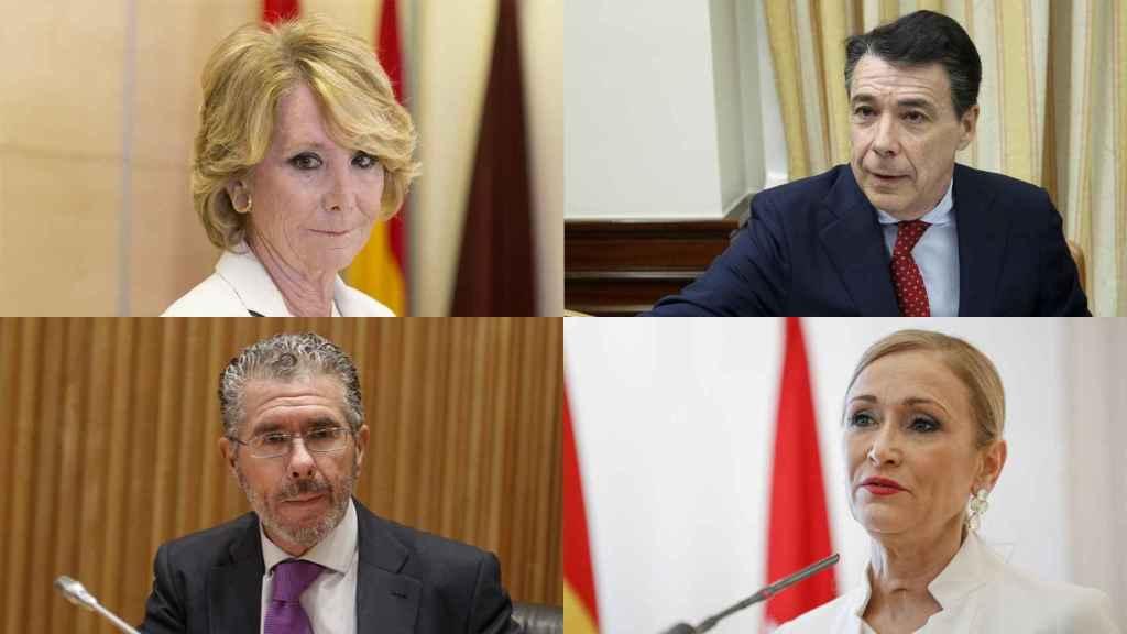 Esperanza Aguirre, Ignacio González, Francisco Granados y Cristina Cifuentes.
