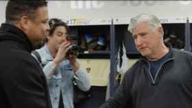 Ronaldo y el entrenador de Los Ángeles Galaxy