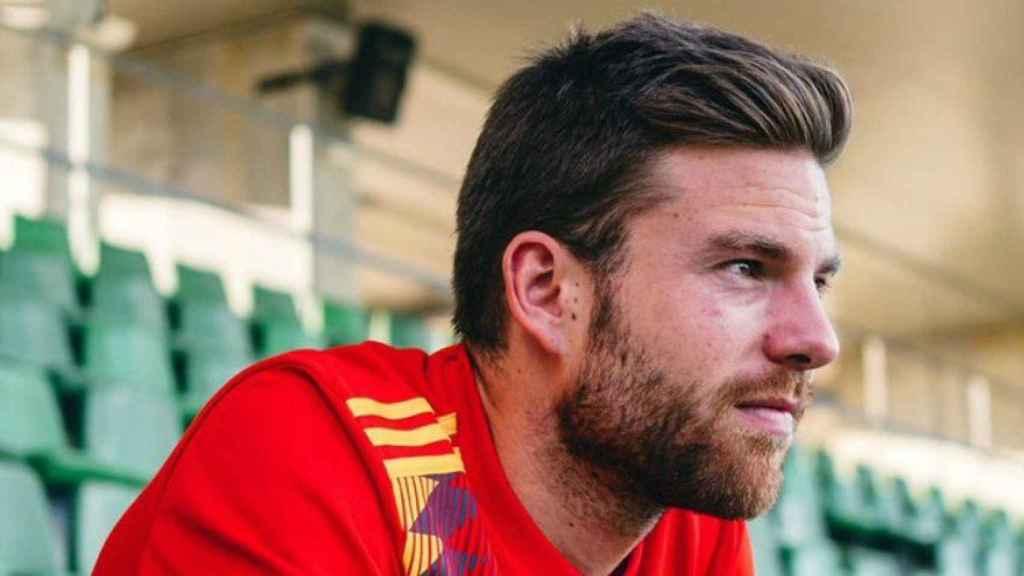 Illarramendi, con la nueva camiseta de la Selección. Foto: Twitter (@illarra4)