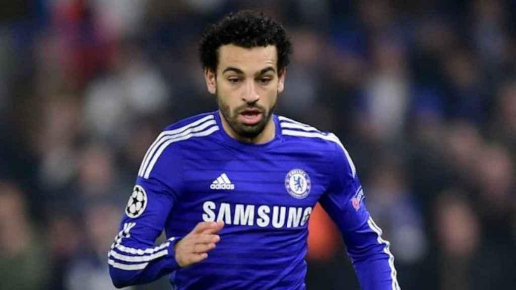Salah con el Chelsea. Foto chelseafc.com
