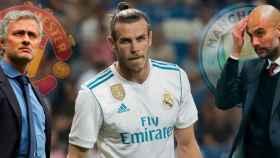 Jose Mourinho, Gareth Bale y Pep Guardiola