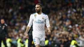 Carvajal, en el partido contra el Girona. Pedro Rodriguez/El Bernabéu