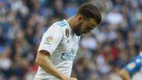 Borja Mayoral, cabizbajo. Foto: Manu Laya / El Bernabéu