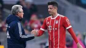 Heynckes y Lewandowski. Foto Twitter (@FCBayern)