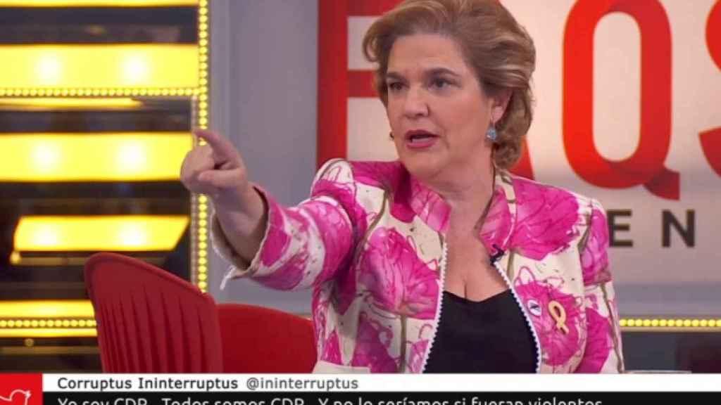 Pilar Rahola, habitual de TV3, en un programa de la autonómica catalana.