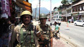 Soldados indios en Cachemira.