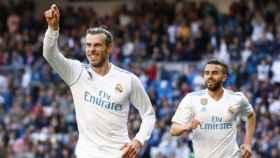 Gareth Bale y Boja Mayoral Foto: Pedro Rodriguez/El Bernabéu