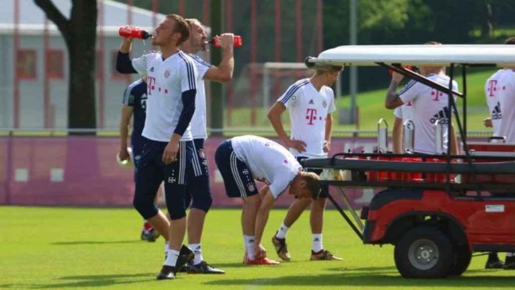 Entrenamiento del Bayern. Foto: Twitter (@FCBayern).