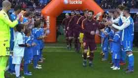 Pasillo del Dépor al Barcelona por se campeones de Copa