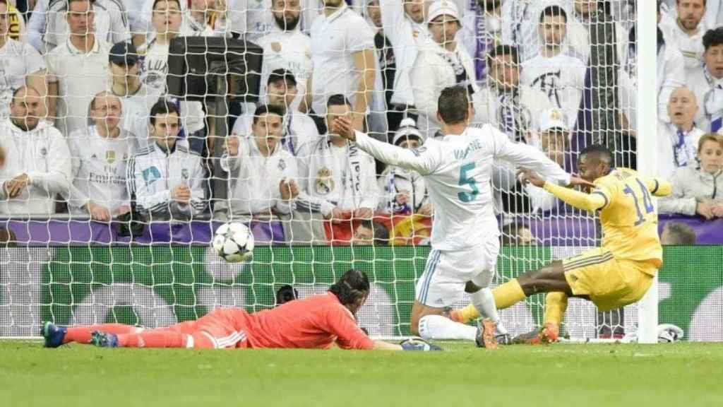 Matuidi mete gol en el Santiago Bernabéu. Foto juventus.com