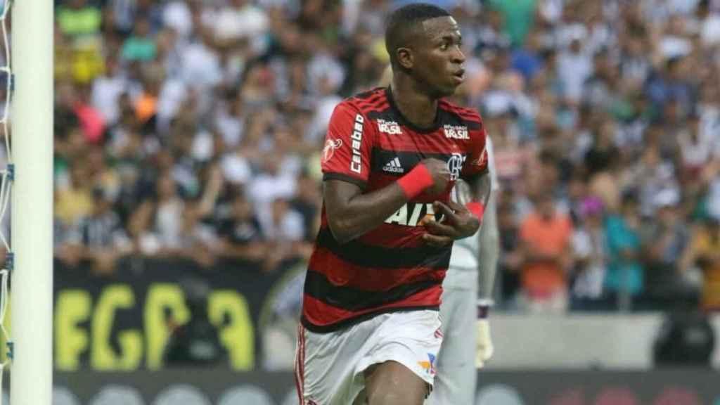 Vinicius Junior celebrando un gol. Foto: Twitter (@Flamengo)