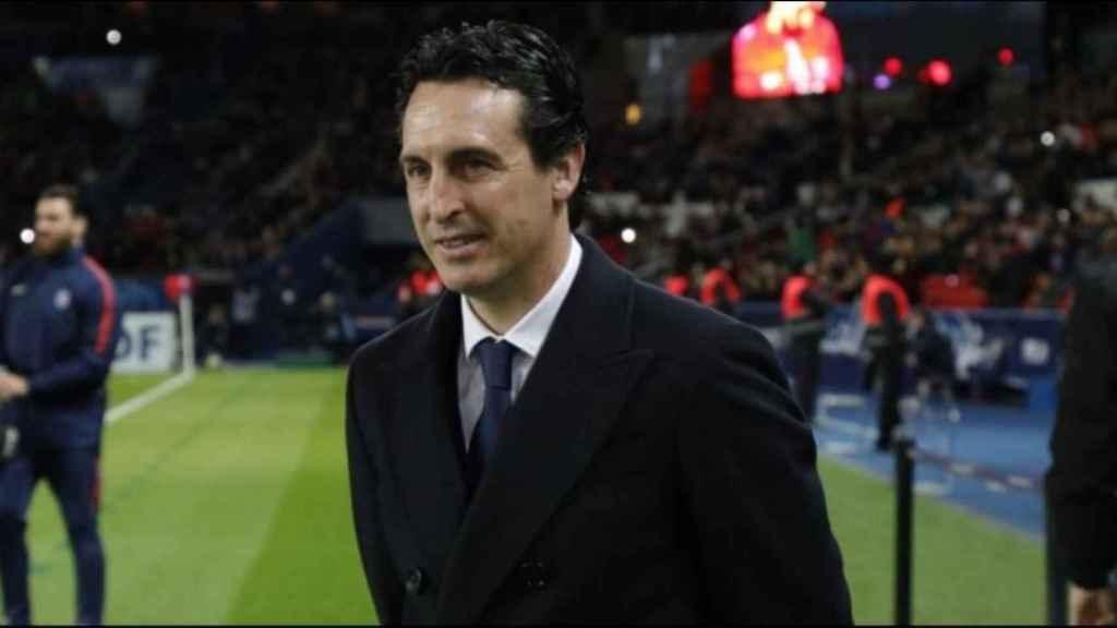Emery, en un partido del PSG. Foto. es.psg.fr
