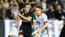 Lucas Vázquez, en el Celta-Real Madrid
