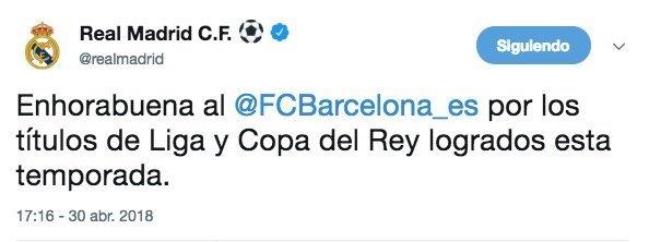 Real Madrid tuit