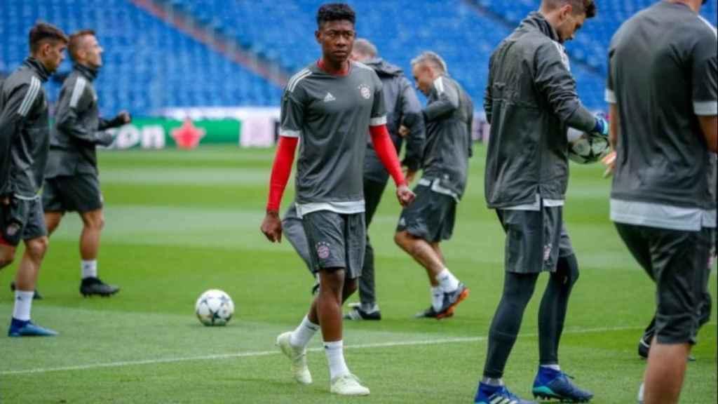 Alaba en el entrenamiento. Foto: Twitter (@FCBayern)