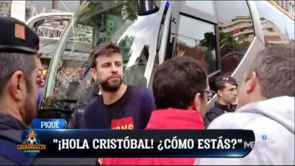 Crsitóbal Soria y Piqué. Foto: Twitter (@elchiringuitotv)