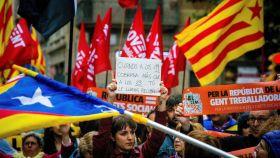 Manifestación convocada este martes en Barcelona por la plataforma Alcem-nos.