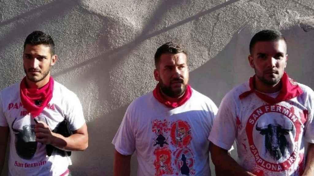 José Ángel Prenda Martínez, alias 'Joselito el gordo', con Alfonso Jesús Cabezuelo (izquierda) y Ángel Boza.