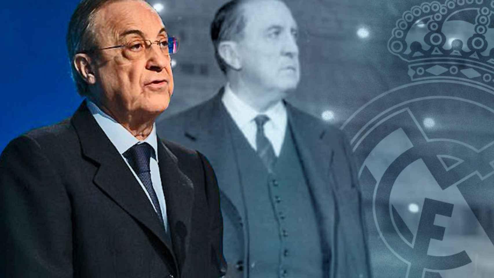 Florentino Pérez y Santiago Bernabéu