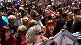 Protestas en Pamplona tras conocerse la sentencia de La Manada.