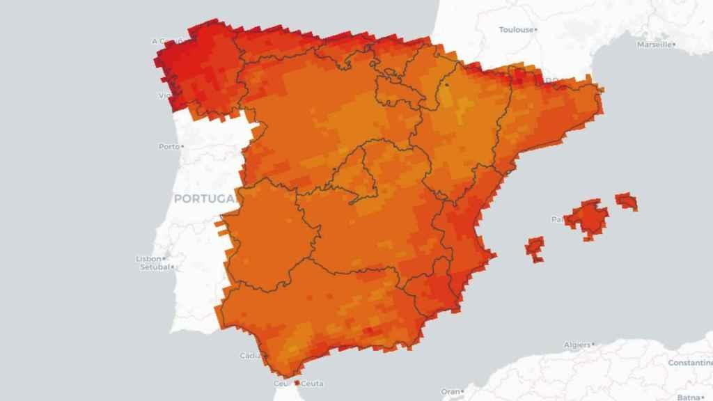 Del naranja al rojo, las regiones que superarán más de 100 noches de calor al año.