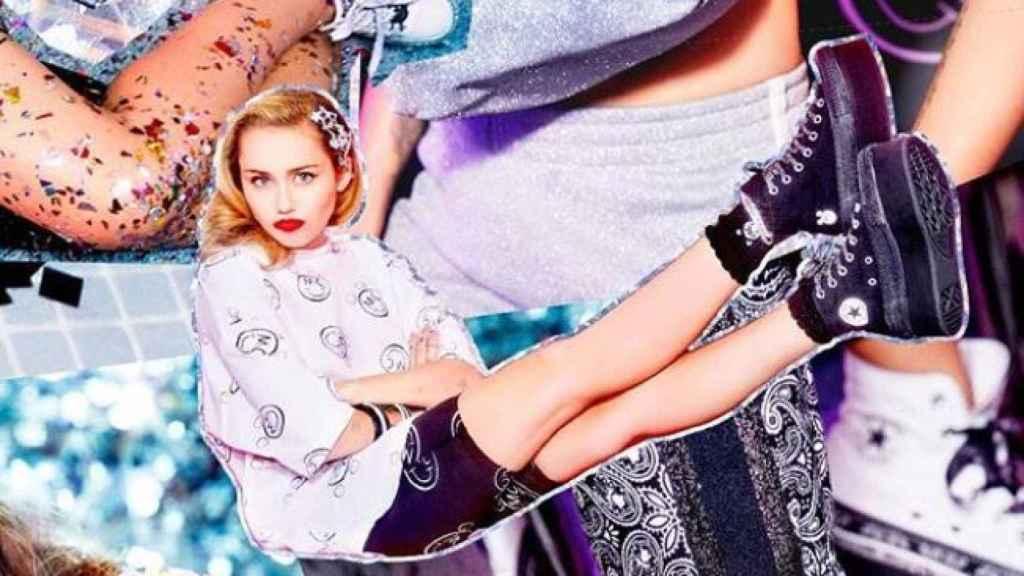 Miley Cyrus en sus fotos de la colección.