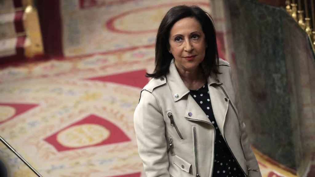 Margarita Robles, durante un pleno en el Congreso.
