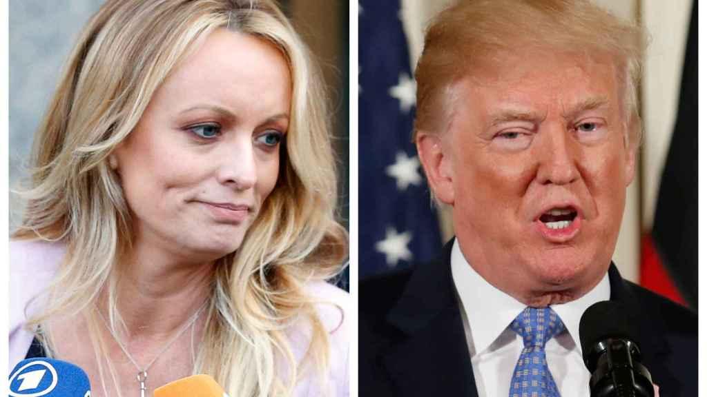 La actriz porno Stormy Daniels y Donald Trump.