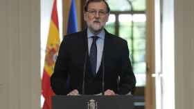 El presidente del Gobierno español, Mariano Rajoy, este viernes en Moncloa.