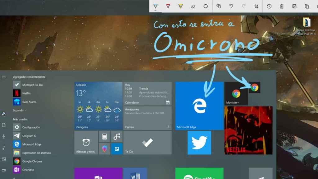 windows ink workspace screen sketch captura de pantalla windows 10 destacada