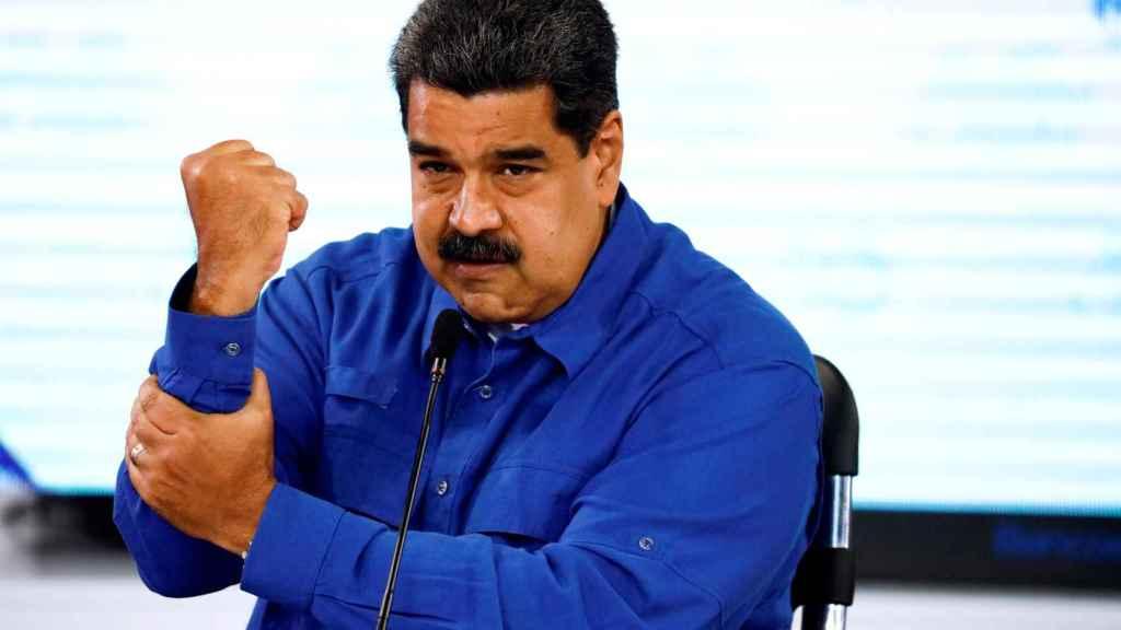 Maduro durante la rueda de prensa en la que anunció la última subida salarial