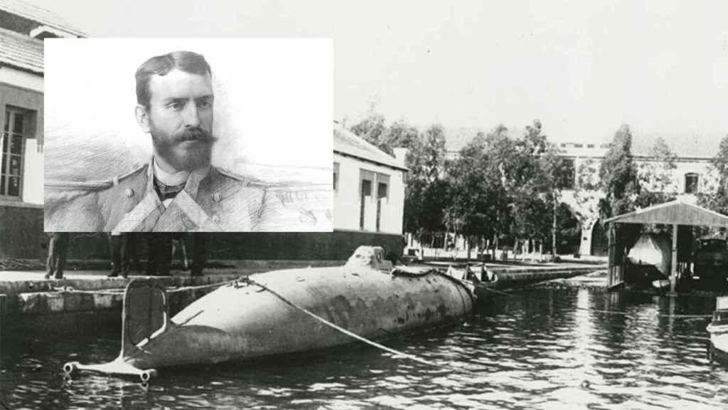 Isaac Peral y su submarino.