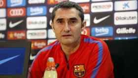 Ernesto Valverde en rueda de prensa. Foto: fcbarcelona.es