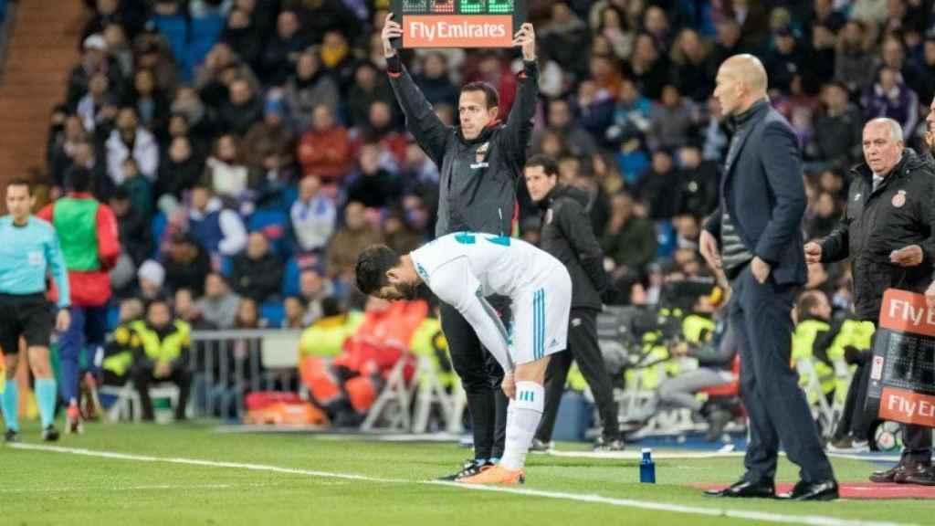 Zidane e Isco.