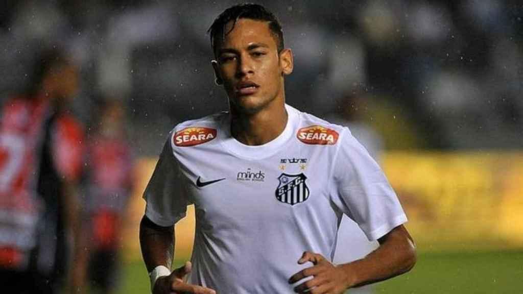 Neymar, con el Santos. Foto: santosfc.com.br