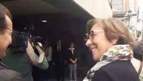Carmen Martínez de Castro, en el momento de burlarse de los jubilados.