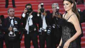 Penélope Cruz en la alfombra roja del Festival de Cannes 2018.
