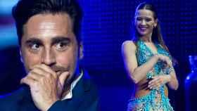 El cantante y la bailarina no dejaron de mirarse.