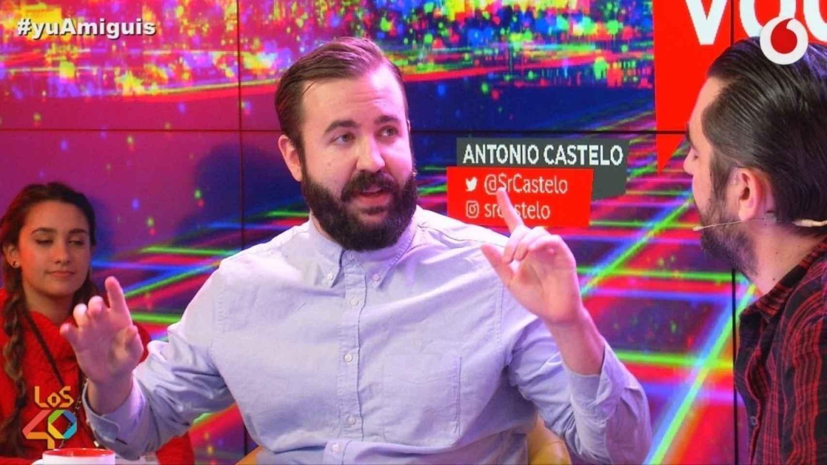 Antonio Castelo en Vodafone Yu, Los40.