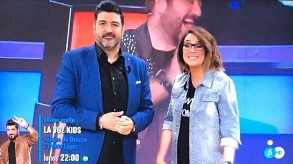 Junto a Toñi Moreno en 'Viva la vida'.