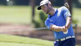 Jon Rahm en pleno entrenamiento antes de The Players.
