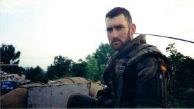 El teniente Arturo Muñoz Castellanos, en una foto tomada con su cámara en la guerra de Bosnia.