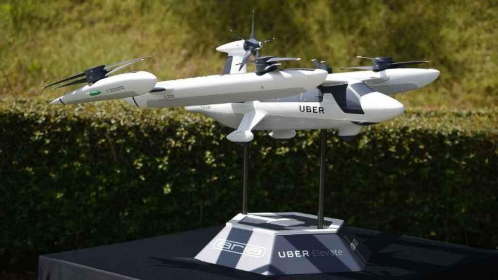 Imagen de un dron de Uber.